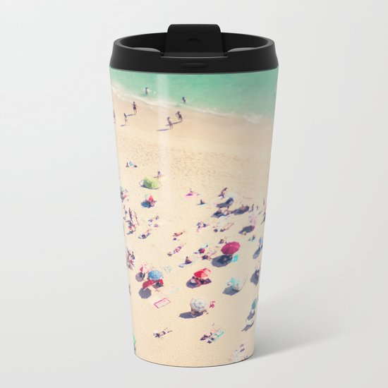 beach summer in love Metal Travel Mug