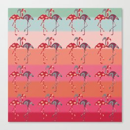 Ombre Pink Flamingos  Canvas Print