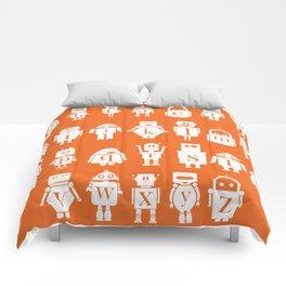 Robot Alphabets in Tangerine Comforters