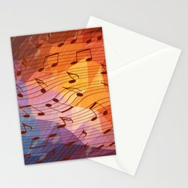 Music notes III Stationery Cards