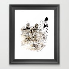 Out of the Sea of Red Framed Art Print