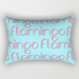 flamingo flamingo flamingo // pink + blue Rectangular Pillow