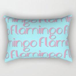 flamingo flamingo flamingo // pink + blue Rectangular Pillow