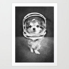 Lola as Astronaut Art Print