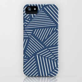 Abstraction Linear Zoom Navy iPhone Case