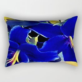 Blue Lilies Rectangular Pillow