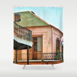 Flags on the Balcony Shower Curtain