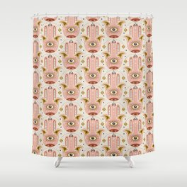 Good Fortune - Ivory Pink Shower Curtain