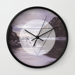 Calm Waters sacred geometry circle triangle Wall Clock