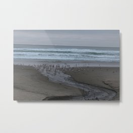Cloudy Beach Day Metal Print
