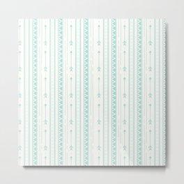 Blush green bohemian arrows zigzag geometrical Metal Print