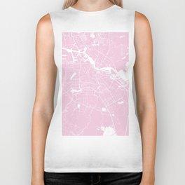 Amsterdam Pink on White Street Map Biker Tank