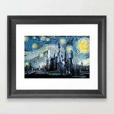 Starry Night Over Atlantis Framed Art Print
