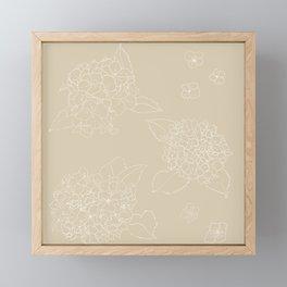 Hydrangeas Beige v. Framed Mini Art Print