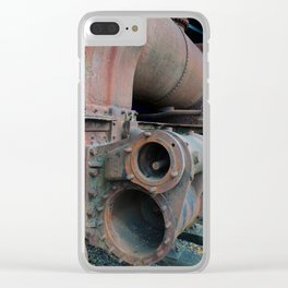 rust - old abandoned steam locomotive Clear iPhone Case