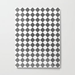 Diamonds - White and Dark Gray Metal Print