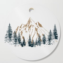 mountain # 4 Cutting Board
