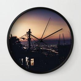 Rio de Janeiro Slum Sunset Wall Clock