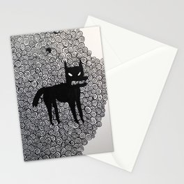 wolf with spirals  Stationery Cards