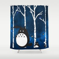 ashton irwin Shower Curtains featuring walk in the woods by Vickn