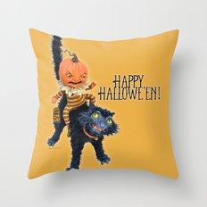 Rucus Studio Halloween Mischief Throw Pillow