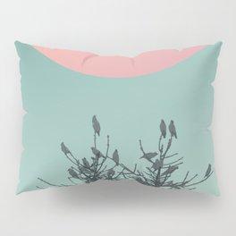 Pine tree and birds Pillow Sham
