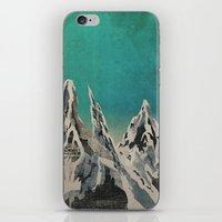mountains iPhone & iPod Skins featuring Mountains by Amelia Senville