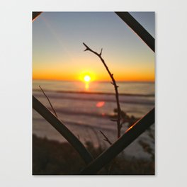 Uncaged Sunset Canvas Print