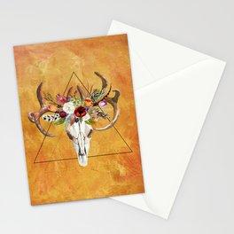 Boho Deer Skull Stationery Cards