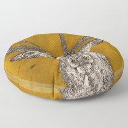 Stag Head Floor Pillow