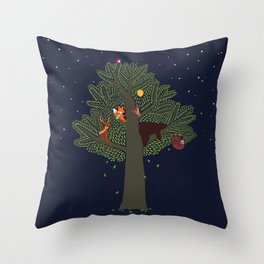 Forest Animals Friendship Day Throw Pillow