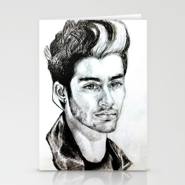 Zayn Malik Drawing Stationery Cards By Clairenisbet Society6