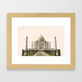 ArtWork Taj Mahal India Paint Painting Framed Art Print