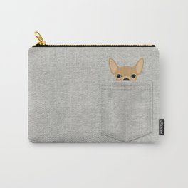 Pocket Chihuahua - Tan Carry-All Pouch