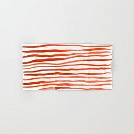 Irregular watercolor lines - orange Hand & Bath Towel