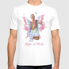 Make a Wish Fairy White Mens Fitted Tee MEDIUM