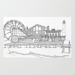 The Jersey Shore by the Downtown Doodler Rug