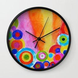Garden Sunrise Wall Clock