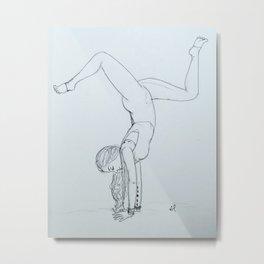 Yoga Girl 1.0  Metal Print