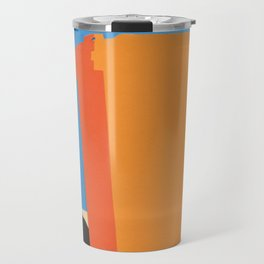 Orange Garbage Bin Travel Mug