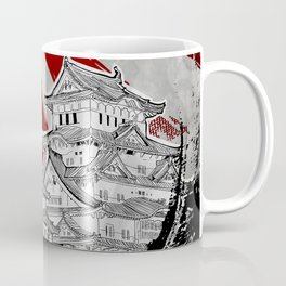Japanese Palace and Sun Coffee Mug