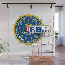 FBI Seal Mockup Wall Mural