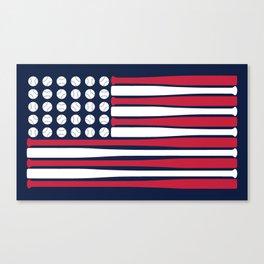 USA Baseball Flag Canvas Print