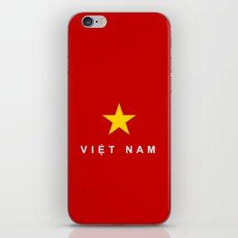 vietnam country flag viet nam name text iPhone Skin