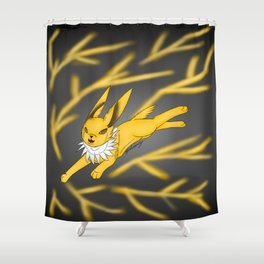 lightning storm Shower Curtain