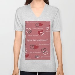 You are awesome by Lu Unisex V-Neck