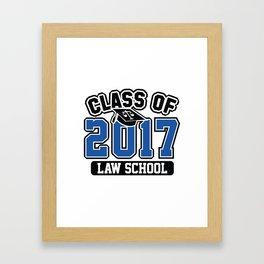 Class Of 2017 Law Framed Art Print