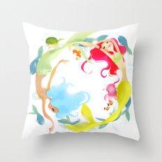 Mermaid Circle Throw Pillow