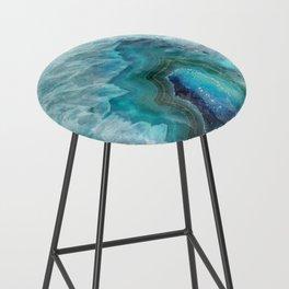Blue Aqua Agate Bar Stool