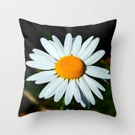 Simple Daisy Throw Pillow